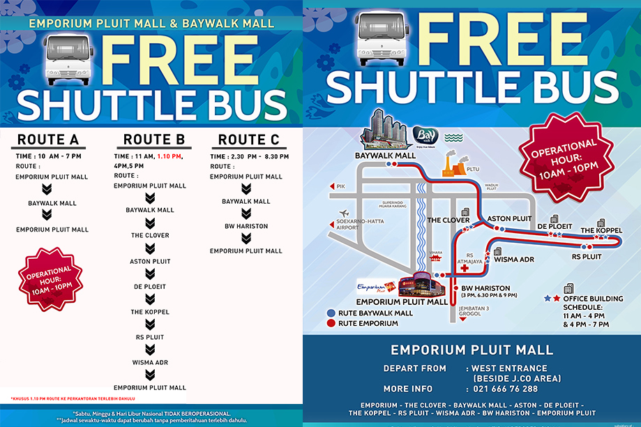Shuttle Bus Emporium Pluit Mall and Baywalk Mall