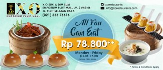 All you can eat, Rp 78.800++
