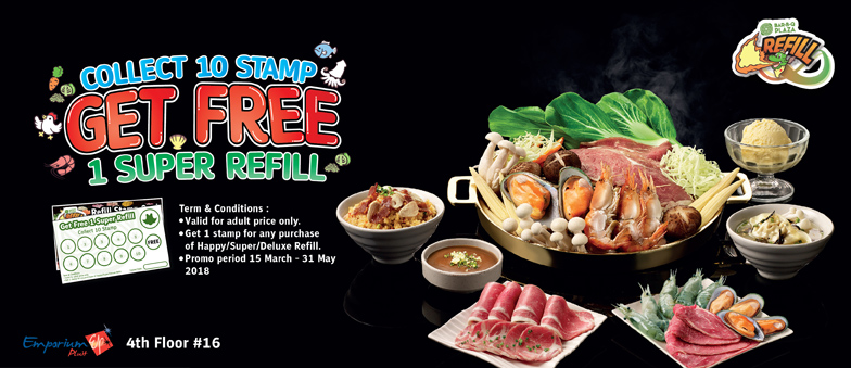 Collect 10 Stamps, get FREE 1 Super Refill!