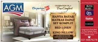 Hanya Bayar Matras, Dapatkan Set Komplit Bed Linen + King Pillow!