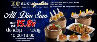 All Dim Sum only Rp 15.800++