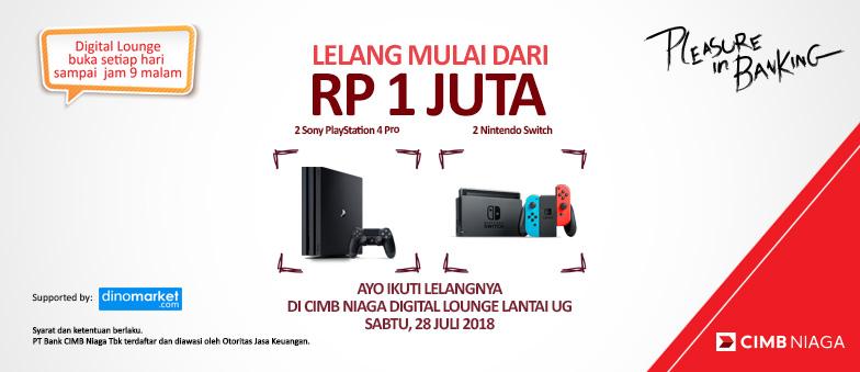 Lelang PlayStation 4 Pro & Nintendo Switch mulai dari 1 JUTA!