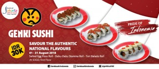 Authentic National Flavours Sushi only IDR 30k!