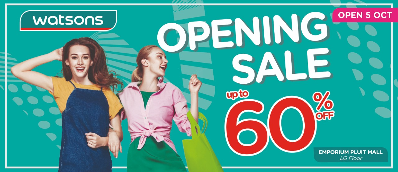 WATSONS OPENING PROMO up to 60%!