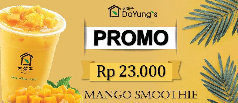 Mango Smoothie only Rp 23.000 at Dayung