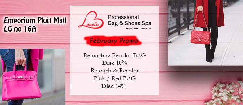FEBRUARY PROMO at LOVELO Bag & Shoes Spa