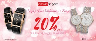 DISCOUNT 20% off for Couple Watch Collection at Star Time