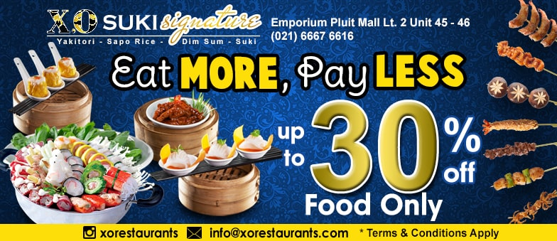 Eat more, Pay less at X.O Suki!