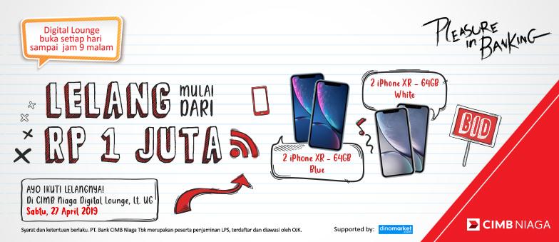 Lelang Iphone XR mulai Rp 1 Juta!