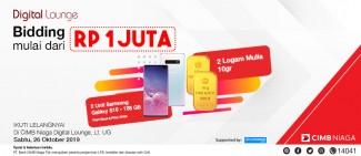 Semua mulai 1 Juta! Ikuti Lelang Samsung Galaxy S10 & Logam Mulia di CIMB Niaga Digital Lounge